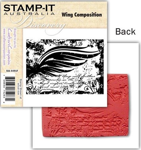 Stamp-It -EZ Mount Rubber Stamp - Wing Composition