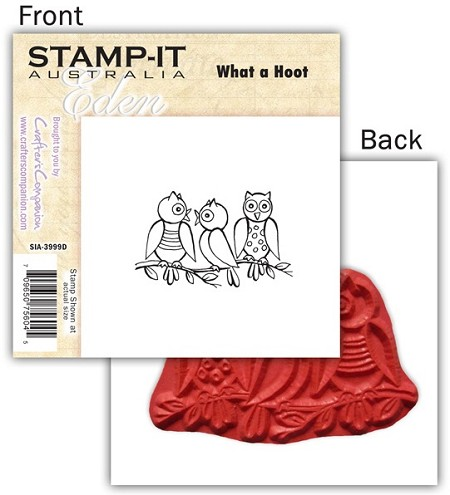 Stamp-It -EZ Mount Rubber Stamp - What A Hoot