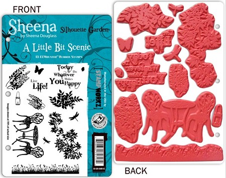 Crafter's Companion - Sheena Unmounted Stamp - A Little Bit Scenic - Silhouette Garden by Sheena Douglass
