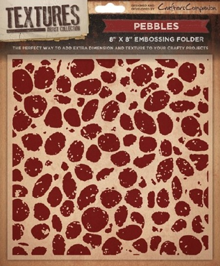 "Crafter's Companion - Textures 8""x8"" Embossing Folder - Pebbles"