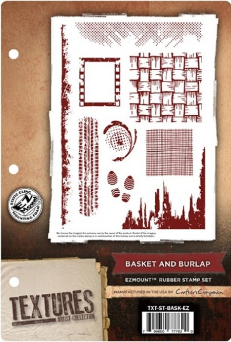 Crafter's Companion - Textures EZMount Stamp Set - Basket and Burlap