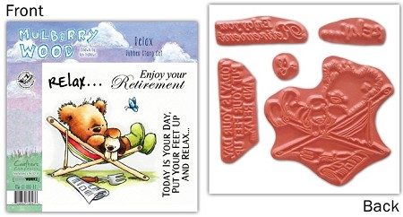 Mulberry Wood - EZ Mount Rubber Stamp Set - Relax