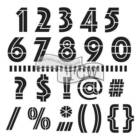 "The Crafter's Workshop 12""x12"" Stencil -  Art Deco Numbers & more :)"