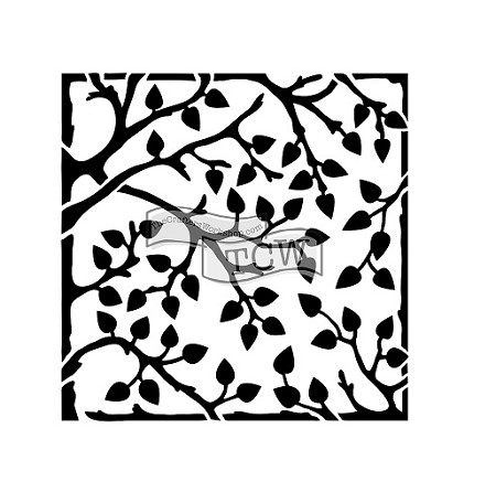 "The Crafter's Workshop 6""x6"" Stencil -  Leafy Branches"