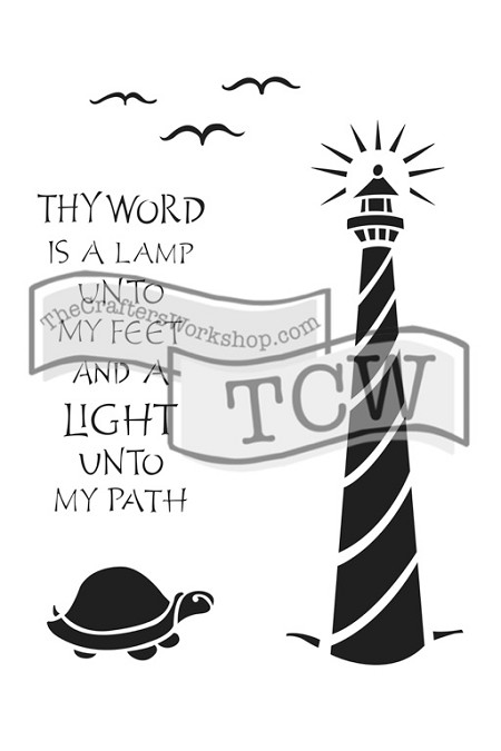 "The Crafter's Workshop 6""x9"" Stencil - Lighthouse"