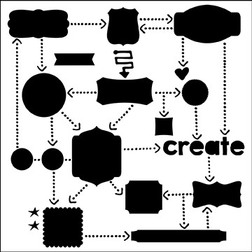 "The Crafter's Workshop 12""x12"" Stencil - Flow Chart"