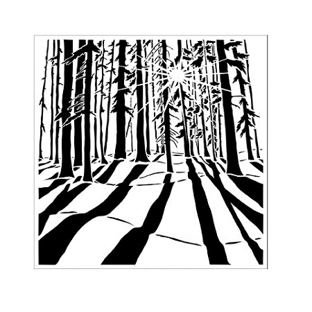 "The Crafter's Workshop 6""x6"" Stencil - Sunlit Forest :)"