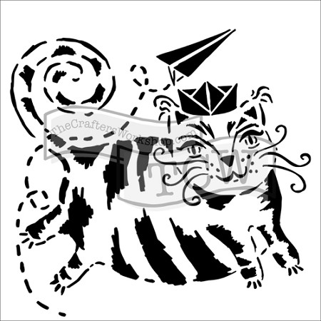 "The Crafter's Workshop 12""x12"" Stencil - Flying Cat"