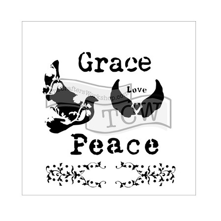 "The Crafter's Workshop 6""x6"" Stencil - Peace Doves"