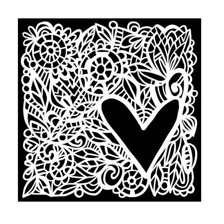 "The Crafter's Workshop 6""x6"" Stencil - Love Frame"