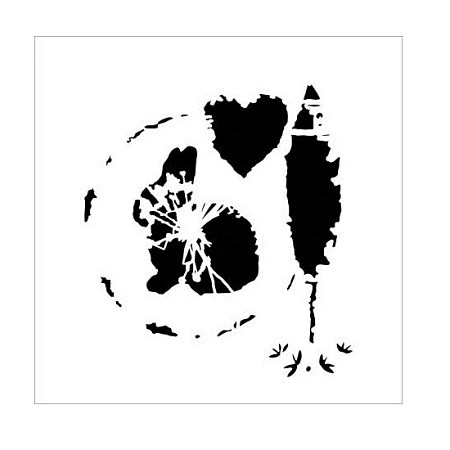 "The Crafter's Workshop 6""x6"" Stencil - Spring Silhouette"