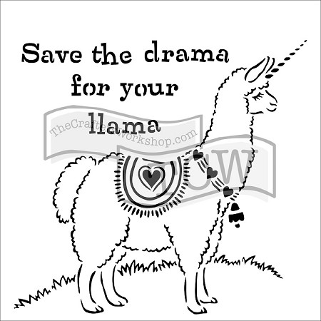 "The Crafter's Workshop 12""x12"" Stencil - Drama Llama"