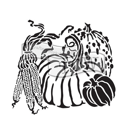 "The Crafter's Workshop 6""x6"" Stencil - Harvest Pumpkins"