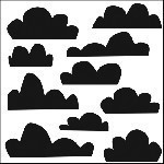 The Crafters Workshop-Templates-Mini Clouds