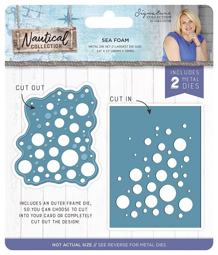 Crafter's Companion - Nautical Collection by Sara Davies - Sea Foam Die