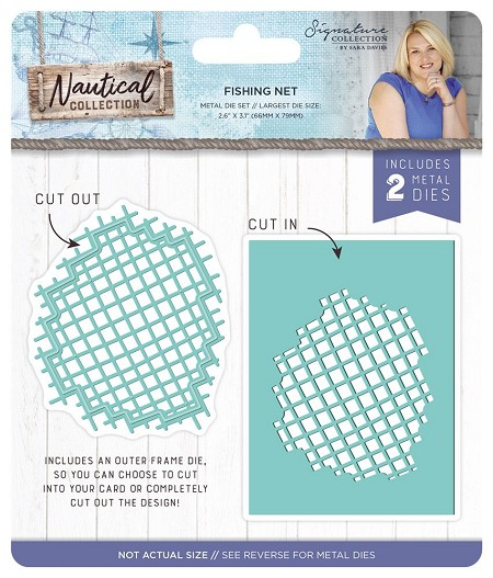 Crafter's Companion - Nautical Collection by Sara Davies - Fishing Net Die