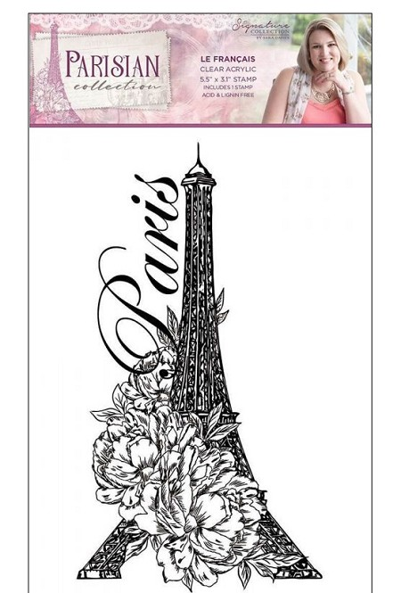 Crafter's Companion - Parisian Collection by Sara Davies - Le Francais Clear Stamps