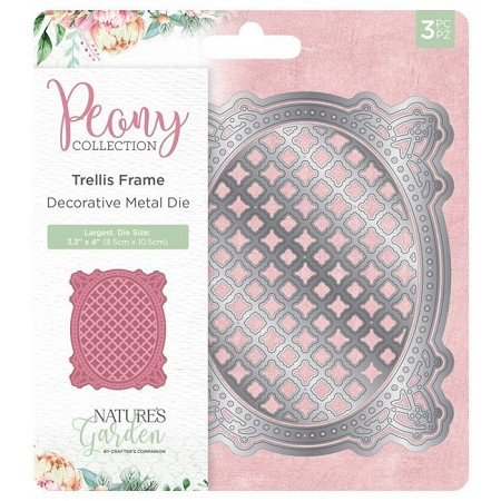 Crafter's Companion - Peony Collection - Trellis Frame Die Set
