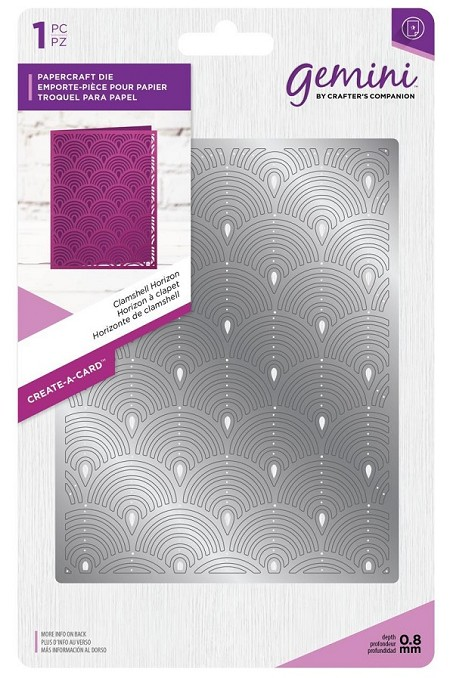 Crafter's Companion - Gemini Collection - Clamshell Horizon Create-a-Card Die