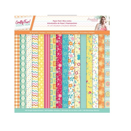"Crafter's Companion - Crafty Fun! Collection by Sara Davies - 6""x6"" Paper Pad"