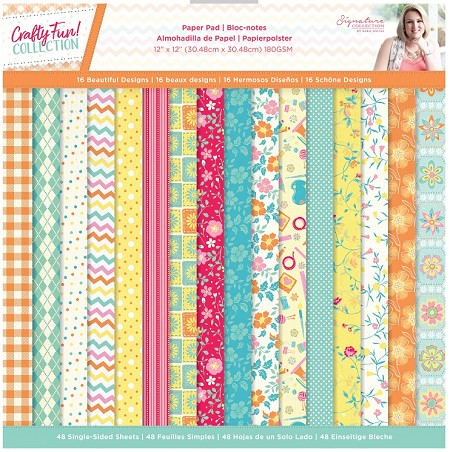 "Crafter's Companion - Crafty Fun! Collection by Sara Davies - 12""x12"" Paper Pad"