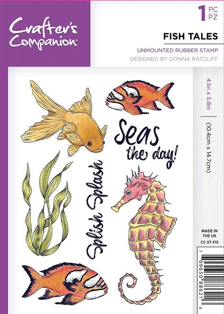 Crafter's Companion - Fish Tales Clear Stamps