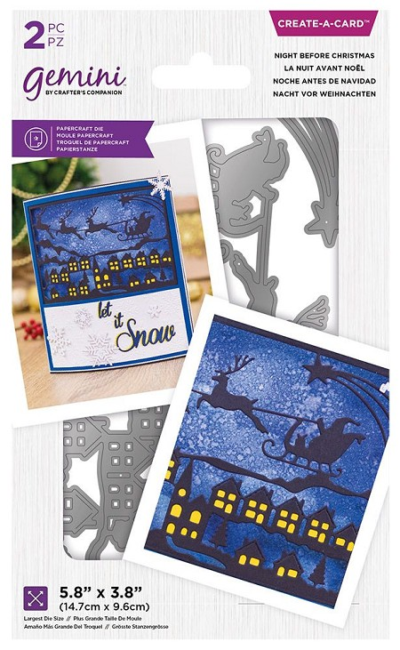 Crafter's Companion - Night Before Christmas Create-a-Card die