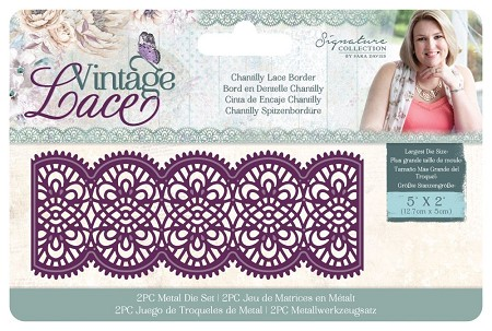 Crafter's Companion - Vintage Lace Collection by Sara Davies - Chantilly Lace Border Die