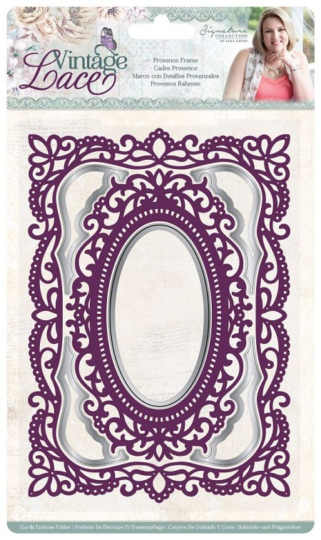 Crafter's Companion - Vintage Lace Collection by Sara Davies - 5x7 Provence Frame Cut & Emboss Folder