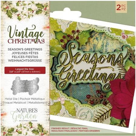 Crafter's Companion - Vintage Christmas Nature's Garden - Season's Greetings Die