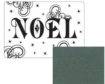 Crafts Too-Dutch Embossing Folder-Noel (A2 size)