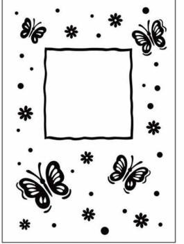 Crafts Too-Dutch Embossing Folder-Butterfly Frame (A2 size)