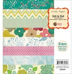 "Crate Paper - Acorn Avenue Collection - 6""x6"" Paper Pad  :)"