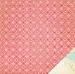 "Crate Paper - The Pier - 12""x12"" Double Sided Cardstock - Cotton Candy"