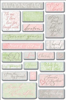 Creative Imaginations - By Teri Martin - Wedding Words
