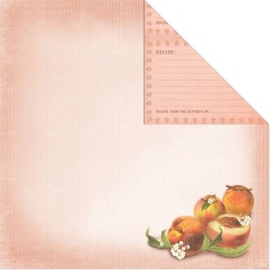 Creative Imaginations - Family Garden Collection - 12x12 Double Sided Paper - Peach