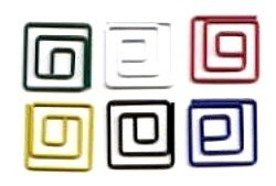 Creative Impressions - Mini Metal Square Paper Clips (25/pkg) - Primary
