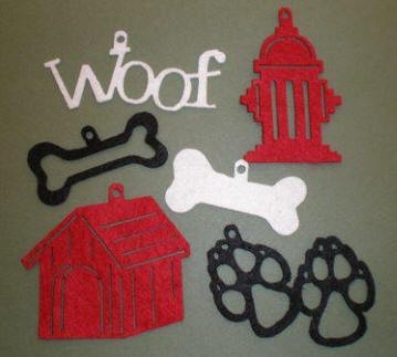 Creative Impressions Felt Die Cuts - Dog