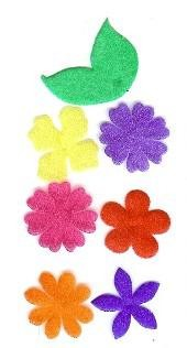 Creative Impressions Small Sheer Flowers - Bright Assortment