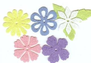 Creative Impressions Medium Felt Flowers - Pastel Assortment