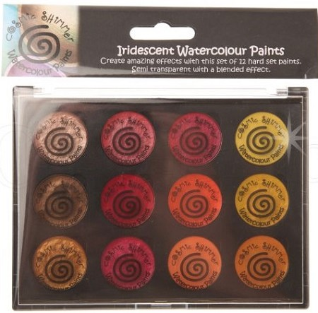 Creative Expressions - Iridescent Shimmering Watercolour Paint - Autumn Sunrise Set