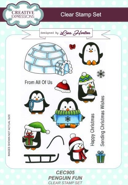 Creative Expressions - Clear Stamp - Penguin Fun by Lisa Horton