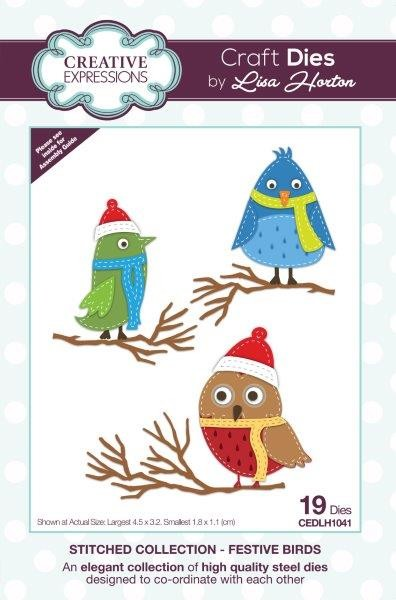 Creative Expressions - Die - Stitched Collection by Lisa Horton - Festive Birds