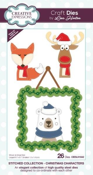Creative Expressions - Die - Stitched Collection by Lisa Horton - Christmas Characters