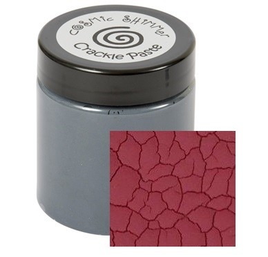 Cosmic Shimmer Crackle Paste - Ruby Red