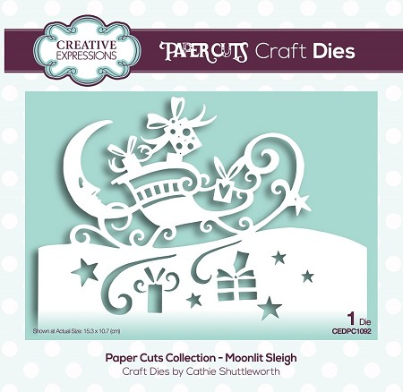 Creative Expressions - Die - Paper Cuts Collection Moonlit Sleigh