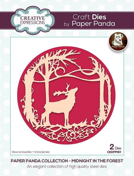 Creative Expressions - Die - Paper Panda Midnight In The Forest Die