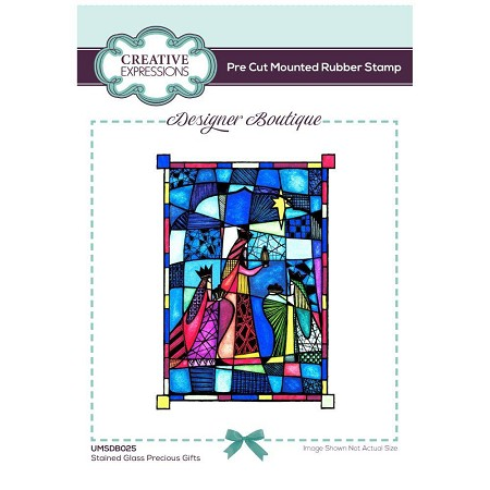 C.E. Designer Boutique - Stained Glass Precious Gifts Cling Stamp