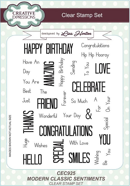 Creative Expressions - Clear Stamp - Modern Classic Sentiments by Lisa Horton