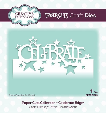 Creative Expressions - Die - Paper Cuts Collection Celebrate Edger